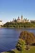 OTTAWA, CANADA – AUGUSTUS 8: Parliament Buildings and Ottawa