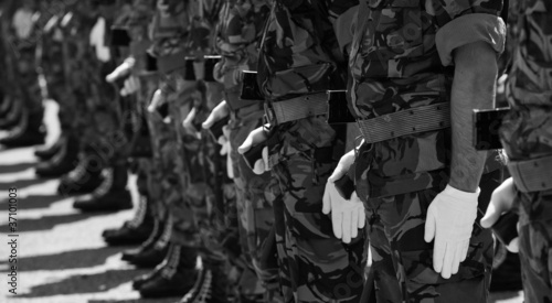 Fotografía  Soldiers in army Parade