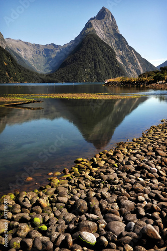 Spoed Foto op Canvas Nieuw Zeeland Mitre Peak