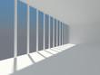 Abstract empty white interior