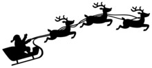 Santa With Sleigh And Rendeer
