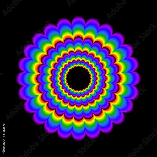 Poster Psychedelique psychedelic wheel