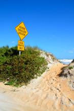 Beach Erosion Sign Florida