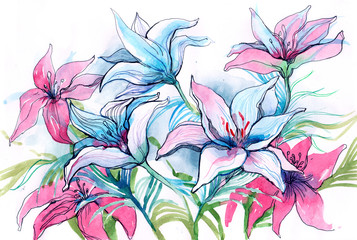 Fototapetalily flowers (series C)