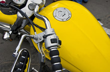 Motorcycle Wheel And Yellow Pe...