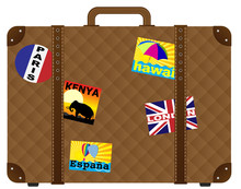 Suitcase With Stickers
