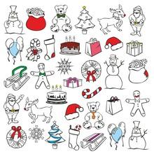 Fully Editable Vector Illustration Of Christmass Items