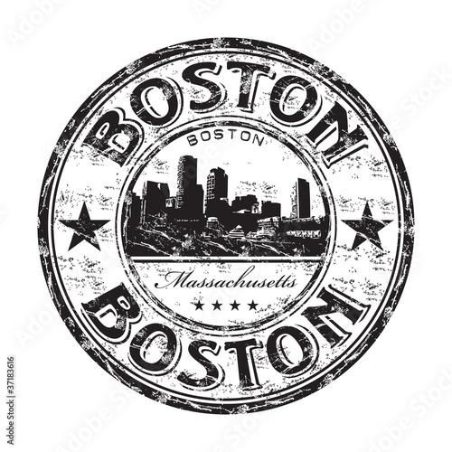 Fotografia Boston grunge rubber stamp
