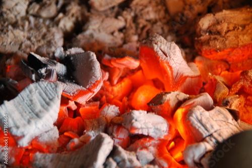 Fotografie, Obraz  feu de cheminée