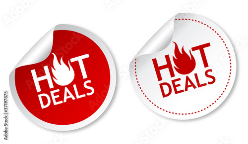Fotografie, Obraz  Hot deals stickers