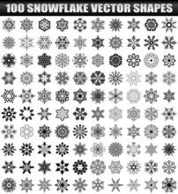 100 Vector Snowflake Shapes