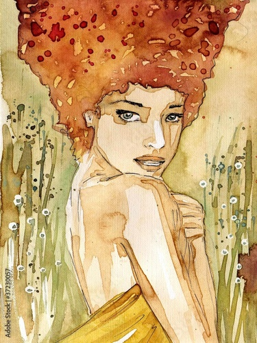 akwarela-z-portretem-kobiety
