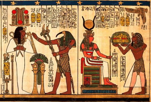Cadres-photo bureau Egypte Egyptian papyrus with antique hieroglyphs