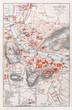 Old map of Salzburg