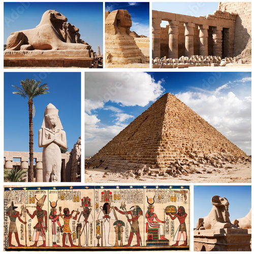Papiers peints Egypte Egypt, sphinx and pyramids collection.