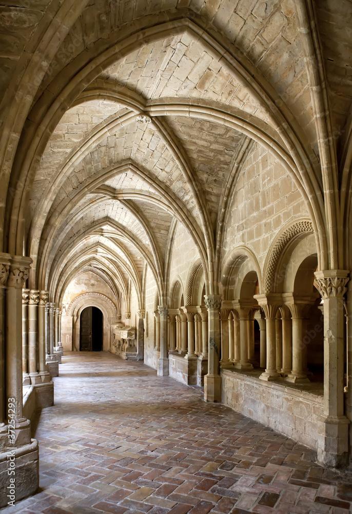 Fototapety, obrazy: Interior of Monastery of Veruela