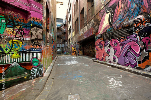 Papiers peints Graffiti Graffiti Alley