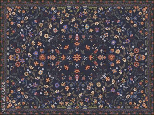 Valokuvatapetti Floral carpet