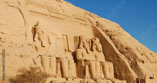 Valokuva  Rameses II statues at Abu Simbel, Egypt