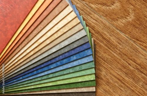 Obraz The samples of collection linoleum - fototapety do salonu