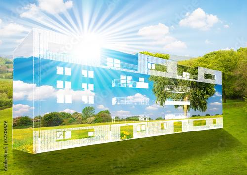 Obraz na plátně  Immeuble à énergie positive