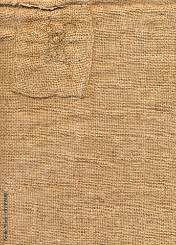 old burlap with patch Wallpaper Mural