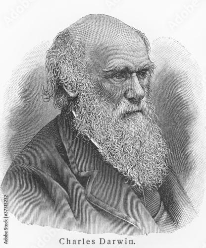 Canvas Print Charles Darwin