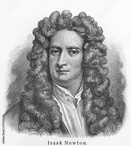 Fotografie, Obraz Isaac Newton