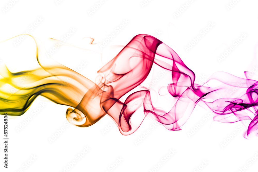 Fototapety, obrazy: Fond texture abstrait flamme fumée