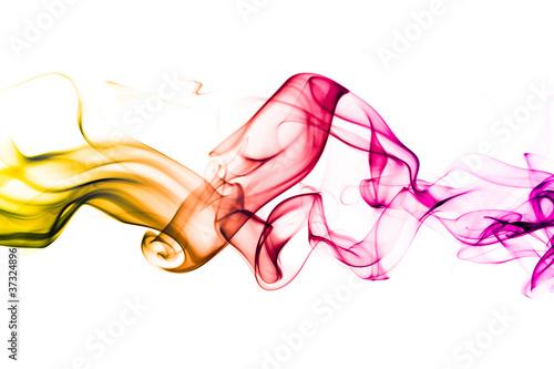 Fotobehang Rook Fond texture abstrait flamme fumée
