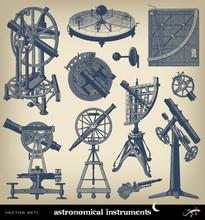 Engraving Astronomical Instrument Set.