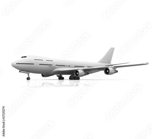 Poster Avion à Moteur 3d airplane