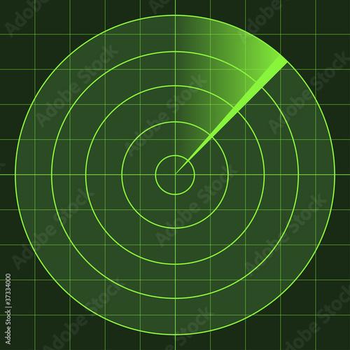 Fotomural  vector radar screen