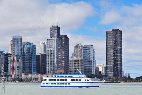 Foto op Plexiglas Chicago Chicago city urban skyline