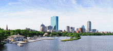 Boston City Skyline Panorama