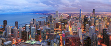 Chicago Skyline Panorama Aeria...