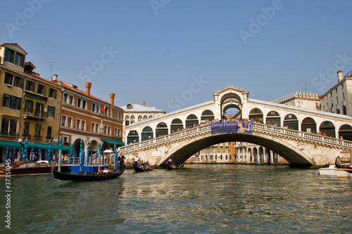 Türaufkleber Gondeln Venezia, ponte di Rialto