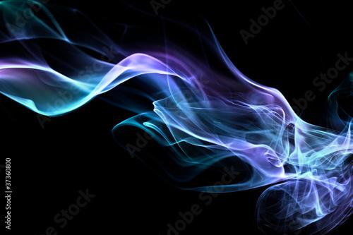 Foto op Plexiglas Rook Fond texture abstrait flamme fumée