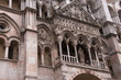 Facade of the cathedral in Ferrara Italy