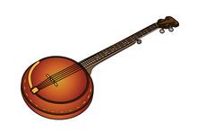Web Art Design Banjo Dixie Dixieland South Sud Western 010