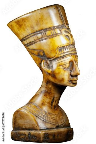Fotografie, Obraz  bust of Queen Nefertiti on white background