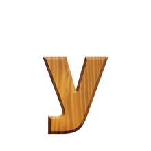 Y - Lettre En Bois - Alphabet
