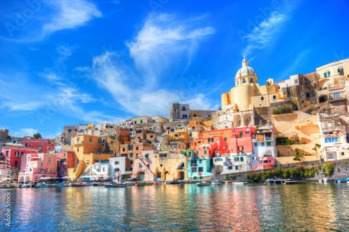 Garden Poster Napels Procida, beautiful island in the mediterranean sea, Naples