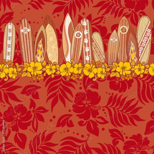 Surfboards seamless vector pattern #37386444