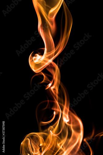 Foto op Canvas Vuur / Vlam Fond texture abstrait flamme fumée