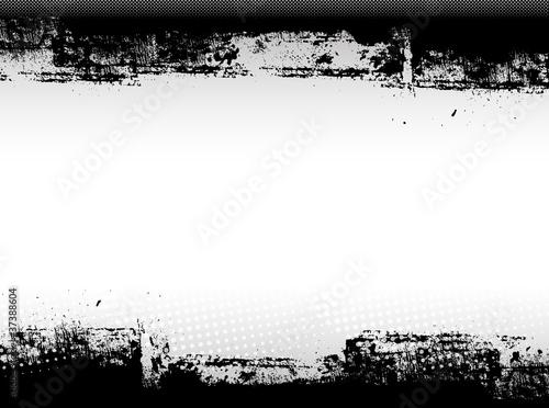 Fotografie, Obraz  Abstract Grunge Border Graphic Design