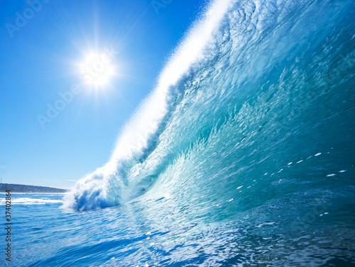 Poster Zee / Oceaan Blue Ocean Wave