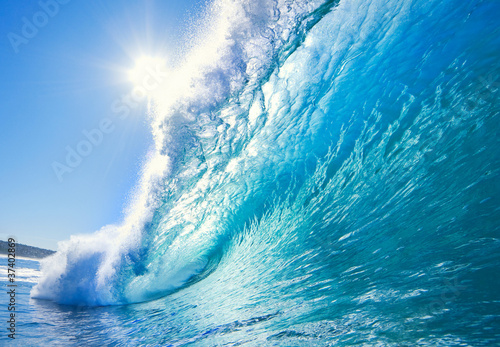 Foto op Canvas Zee / Oceaan Blue Ocean Wave