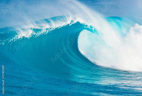 Autocollant pour porte Eau Blue Ocean Wave