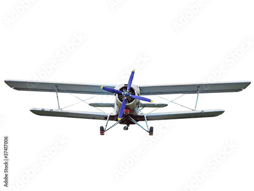 Old biplane isolated Canvas Print